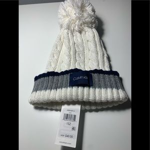 Calvin Klein winter hat with ball on top